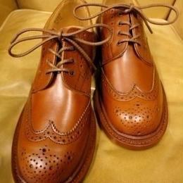 Tricker's × UW Ladies / Country Brogue Shoes / Marron Antique