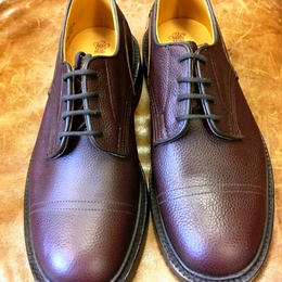 17.23 Rejected Tricker's / Brown Grain / Imitation Cap Toe Shoes / Leather W Sole / Size 8-6fitting