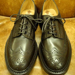 17.00 Rejected Tricker's / Dark Brown / Country Full Brogue Shoes / Commando W Sole