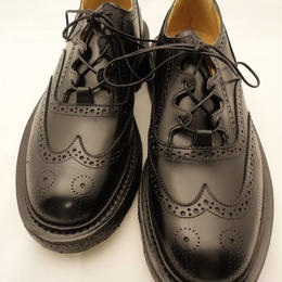 Tricker's × UW / Thistle Gillie Country Shoes / Black
