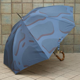 LOCKWOOD / WHANGEE (BAMBOO) SUPER SLIM UMBRELLA / BLUE