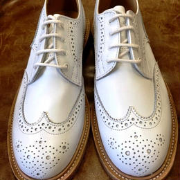 17.52 Rejected Tricker's / White / Country Brogue Shoes / Leather Sole / Size 6-4fitting / Ladies
