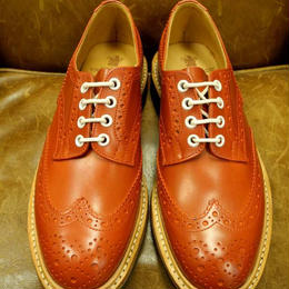17.01 Rejected Tricker's / Red / Country Full Brogue Shoes / Commando W Sole