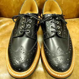 17.09  Rejected Tricker's / Black / Country Full Brogue Shoes  /   Commando  W Sole