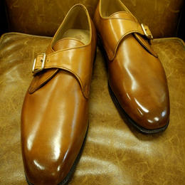 Rejected Tricker's / Light Brown / Single Monk / Leather Sole / Size 8H