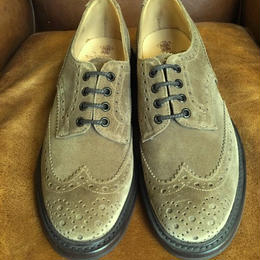 17.16  Rejected Tricker's / Camel Suede / Country Full Brogue Shoes / Dainite W Sole