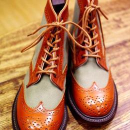 Tricker's × UW Ladies / Country Brogue Boots / Combi