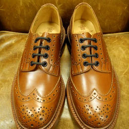 17.02 Rejected Tricker's / Marron / Country Full Brogue Shoes / Leather W Sole