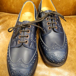 18.26 Rejected Tricker's / Navy / Country Brogue Shoes / Dainite Sole / Size 6