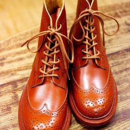 Tricker's × UW Ladies / Country Brogue Boots / Marron Antique