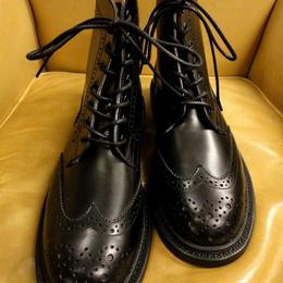 Tricker's × UW Ladies / Country Brogue Boots / Black