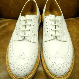 17.11  Rejected Tricker's / White / Country Full Brogue Shoes  / Leather W Sole