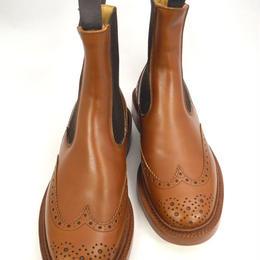 Tricker's × UW / Side Gore Country Boots /Marron Antique