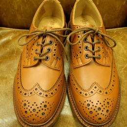 17.04  Rejected Tricker's / C-Shade / Country Full Brogue Shoes  / Leather W Sole