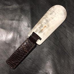 John Lobb London Folding Shoe Horn ① / Crocodile Brown