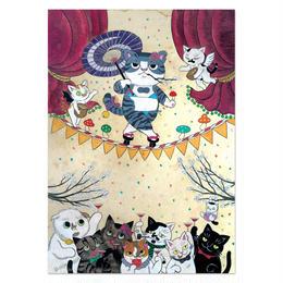 石黒亜矢子「おいらんサバ美」A4ポストカード