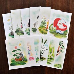 どいかや 動物ポストカード 12枚組
