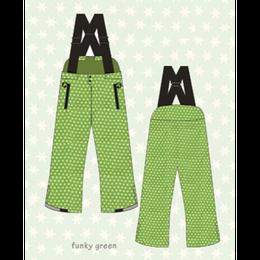 ducksday Winterpants with braces  Funky green ( 8y / 10y / 12y )