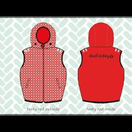 ducksday Body warmers Funky red ( 8y / 10y / 12y )