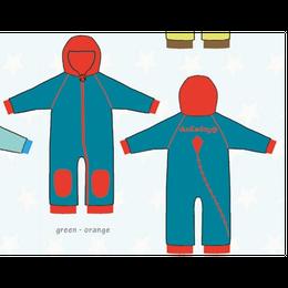ducksday Fleece suits Green/orange ( 98-104cm~104-116cm )