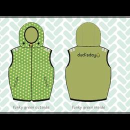 ducksday Body warmers Funky green ( 8y / 10y / 12y )