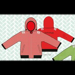 ducksday Reversible jacket Funky red ( 8y / 10y / 12y )