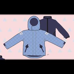 ducksday Detachable fleece&jacket yo ( 8y / 10y / 12y )