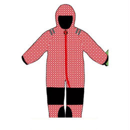 ducksday Tiny warm suits Funky red