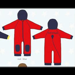 ducksday Fleece suits Red/blue ( 98-104cm~104-116cm )