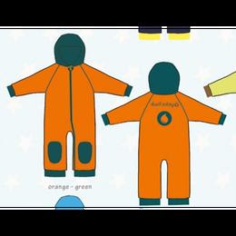 ducksday Fleece suits Orange/green ( 98-104cm~104-116cm )