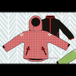 ducksday Detachable fleece&jacket Funky red ( 8y / 10y / 12y )