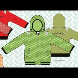 ducksday Reversible jacket Funky green ( 8y / 10y / 12y )