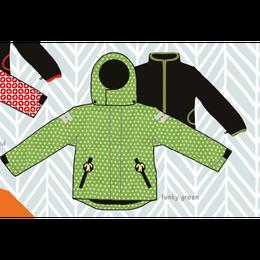 ducksday Detachable fleece&jacket Funky green ( 8y / 10y / 12y )