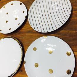 中囿義光 丸皿、ゴールド