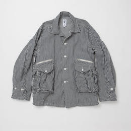 6 Pocket Cargo Shirt, Stripe