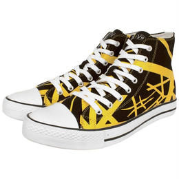 EVH Yellow High Top Sneakers [#AB009]