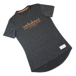 Velobici Pedal Pushing Union  T Dark Grey Marl / ヴェロビチ ペダルプッシングユニオン Tシャツ (霜降りダークグレー)(VB-147)