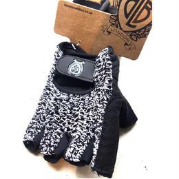 BLB Knit Sports Cycling Glove / White/Black / BLB ニット スポーツ サイクリンググローブ(合皮+メッシュ)ホワイト/ブラック(GLBW7761-65)
