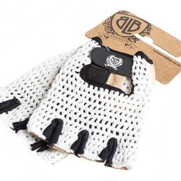 BLB Cycling Glove / White Crouchet/Natural Tan Palm / BLB サイクリンググローブ(合皮+メッシュ)ホワイト(GLBW0060-64)