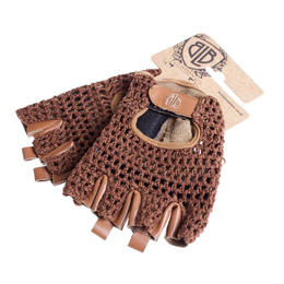 BLB Leather Cycling Glove / Brown Leather / Mesh / BLB ブラウンレザー サイクリンググローブ(本革素材+メッシュ)(GLBB1001-5)