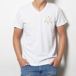 VST&STAR color Vneck T shirt
