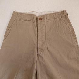 【1940s  U.S. ARMY  45-KHAKI】 Chino trousers