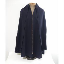 60s~70s  Dark Blue Wool Melton Cape.