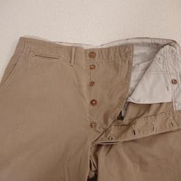 【1940s  U.S. ARMY  43-KHAKI】 Chino trousers