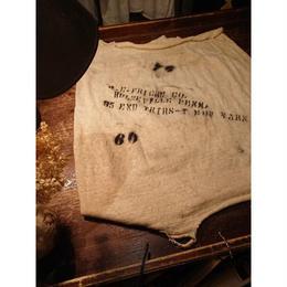 Cotton fabric with stencil