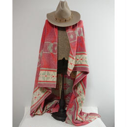 60s~70s  Native pattern red blanket.