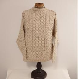 【 CRIOS KILDRE IRELAND 】Wool knit fisherman's sweater.