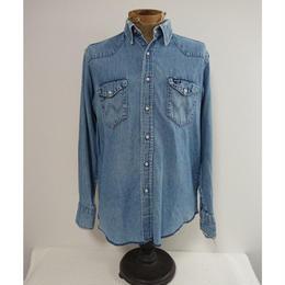 【 1980s~ Wrangler 】  Denim western shirt