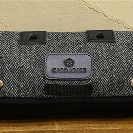 CARRADICE & HARRIS TWEED / New Limited Editions Zip Roll / Mono herringbone