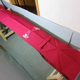 お箏用品 油単簡単マジックテープ リメイク 13絃 琴 赤 000189